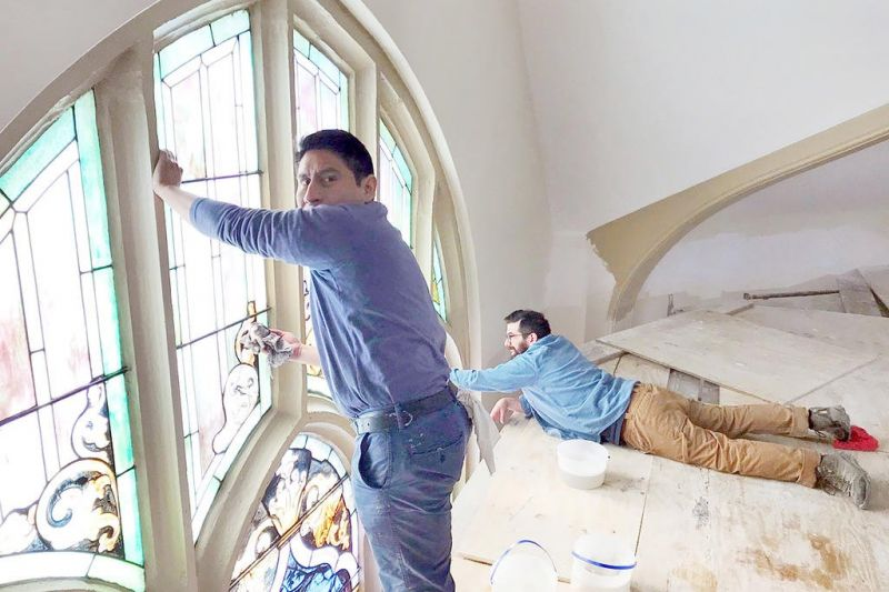 Dover church uncovers ceiling hidden for decades
