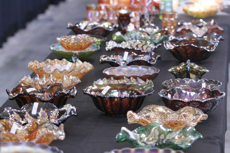 Special class of glass greets bidders at the annual auction